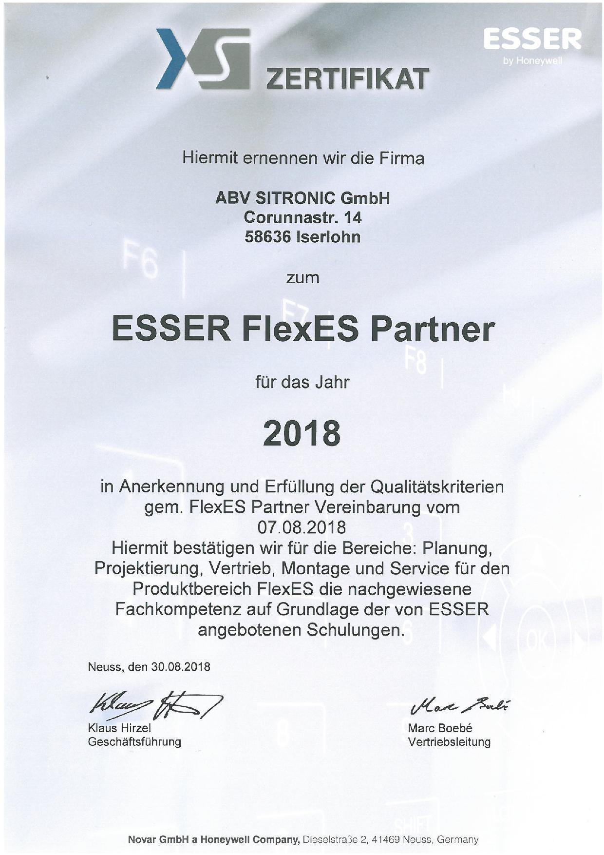 Esser FlexES (SITRONIC Iserlohn)